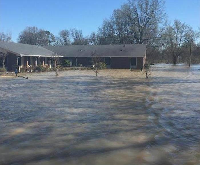 Nursing home sitting in flood waters