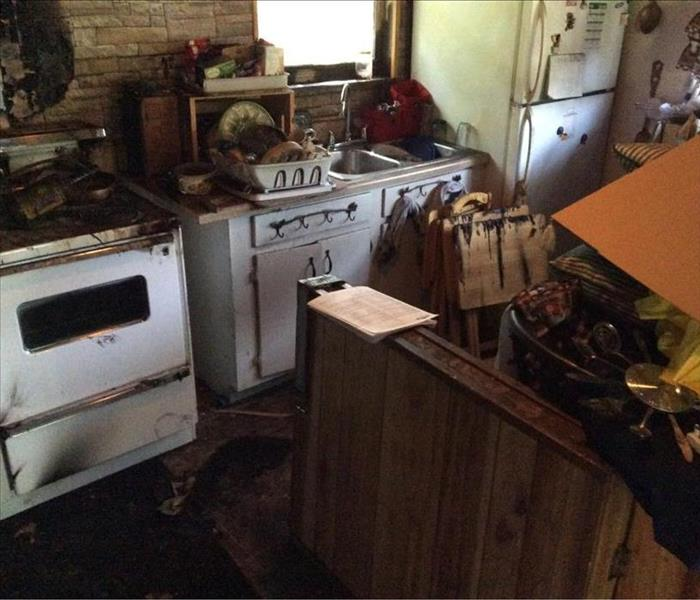 Kitchen Fire in Ackerman, MS  Before